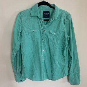 American Eagle Button Down Corduroy Shirt